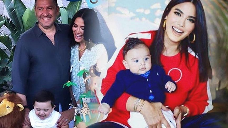 Gamze ve Nedim Keçeli'nin oğlu Yaman'ın ilk doğum günü