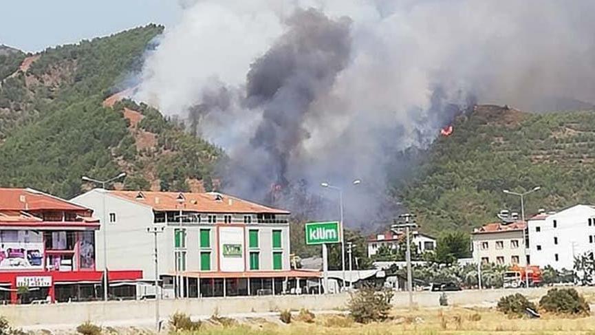 Muğla'da üçüncü yangın! Fethiye'deki yangın 2 saatte söndürüldü