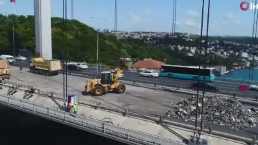 FSM'deki çalışmaların 16. gününde ilk kat asfalt tamamlandı