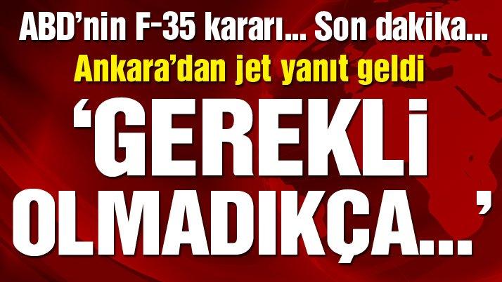 Son dakika… Türkiye'den F-35 açıklaması: Resmi olana kadar bekliyoruz