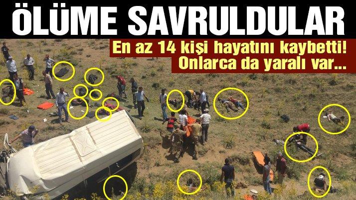 Son dakika… Van'da minibüs takla attı: En az 14 ölü, 28 yaralı!