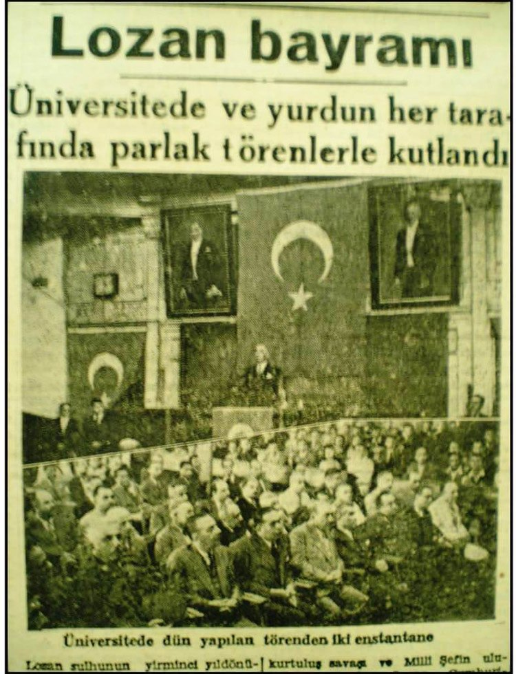 1923-1950 arasında27 yıl Lozan 'bayram'olarak kutlandı.