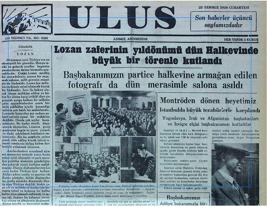 Lozan Günü 1930'larda HalkEvleri'nde de coşkuyla kutlanırdı.