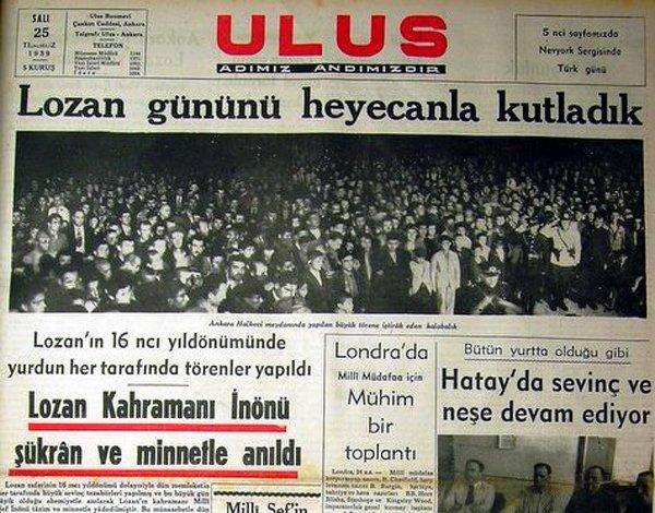 Ulus, 25 Temmuz 1939.