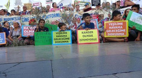 Aydın'da çevrecilerden JES ihaleleri öncesi basın açıklaması