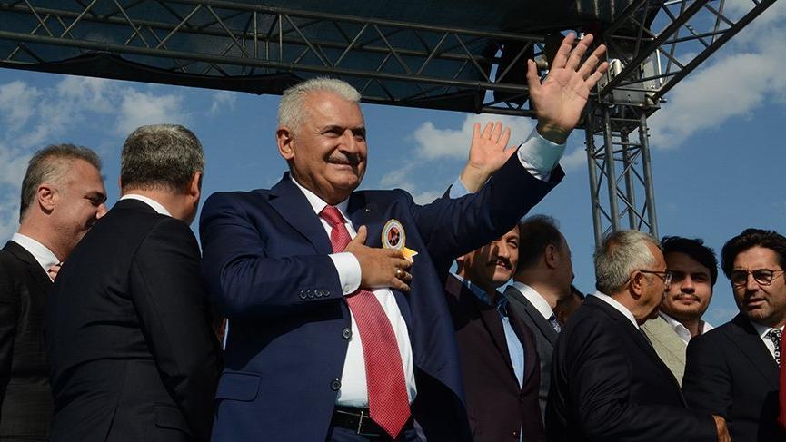 Binali Yıldırım, Erdoğan'la birlikte açılışı yaptı!