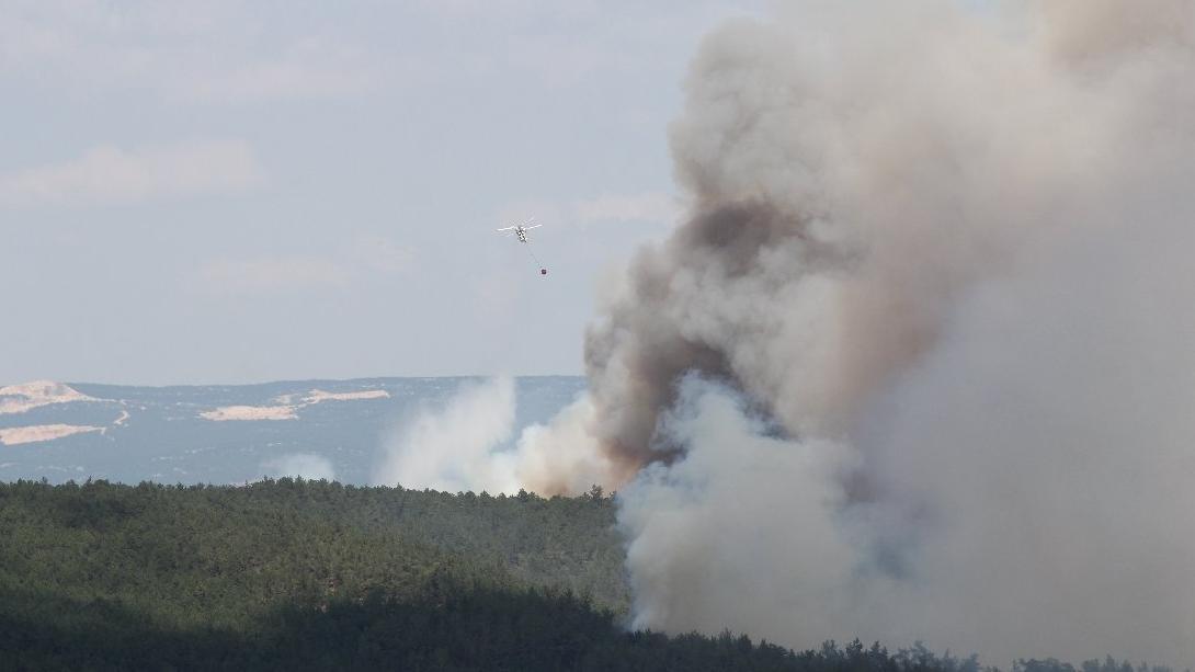 Bursa'daki yangın 9 ayrı bölgede sürüyor