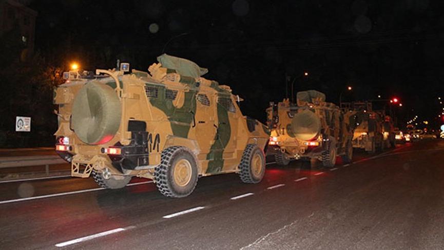 Suriye sınırına yine bir askeri sevkiyat!