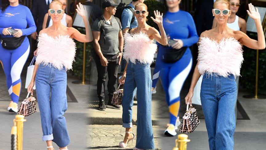 Celine Dion'un trend haline getirdiği 'Asimetrik jean'ler sokak modasını ele geçirdi