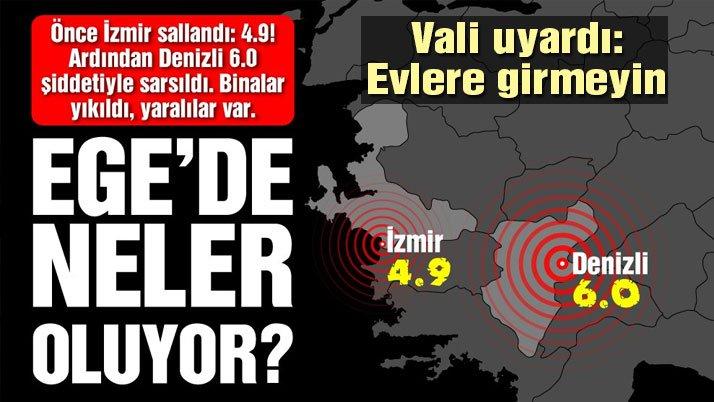 Son dakika: Denizli'de büyük deprem! Denizli'de 6 büyüklüğünde deprem…