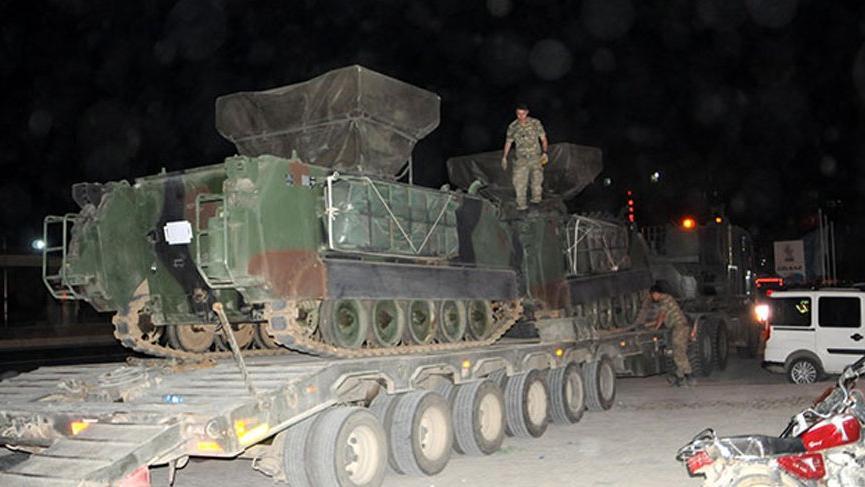 Suriye sınırına askeri sevkiyatta son durum!