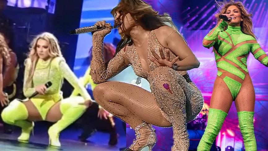 Hadise'nin konser kıyafetleri Jennifer Lopez'in kıyafetlerine benzetildi, sosyal medya karıştı