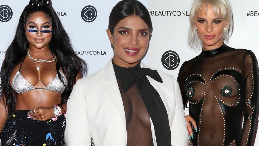 Priyanka Chopra güzellik festivaline (Beautycon) katıldı, stiliyle dikkat çekti
