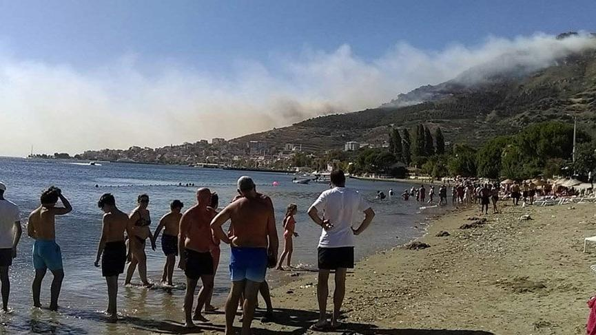 Burgazada ve Marmara Adası'nda orman yangını