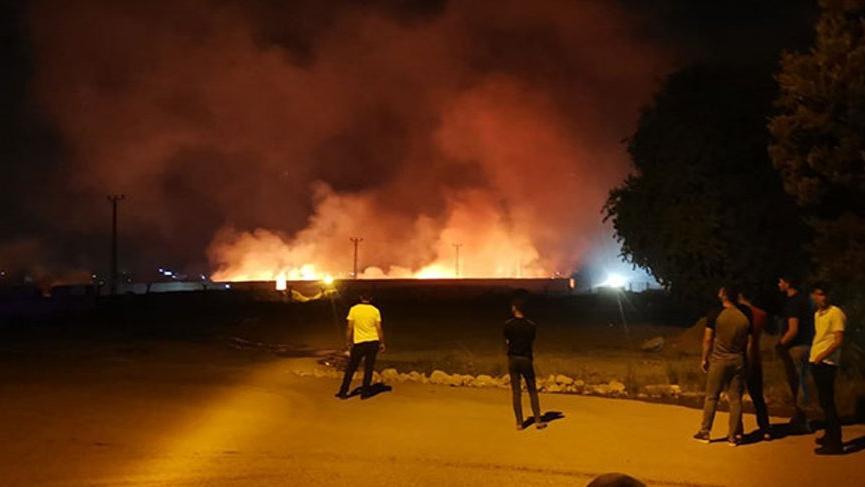 Nusaybin'de eski gümrük kapısında yangın!