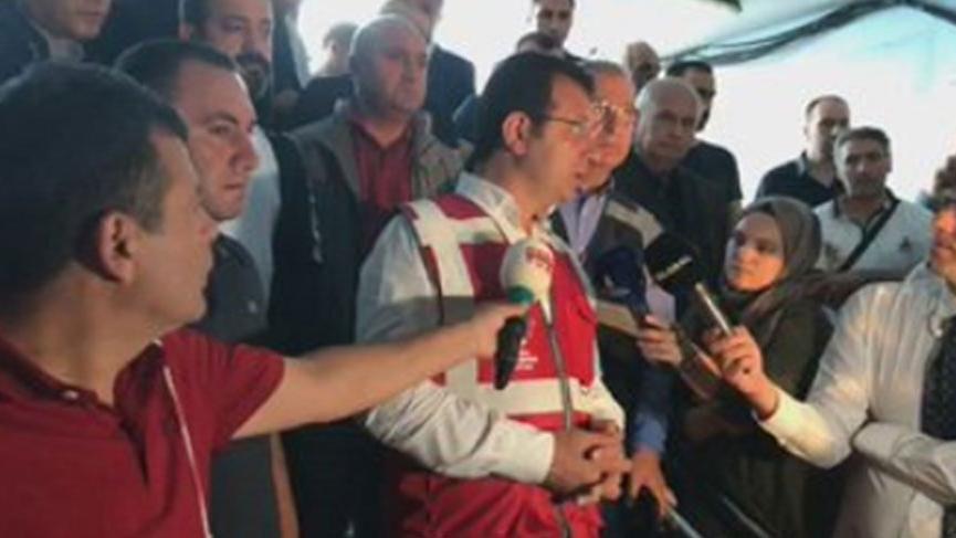 İmamoğlu, yağmur sonrası Eminönü'nde inceleme yaptı