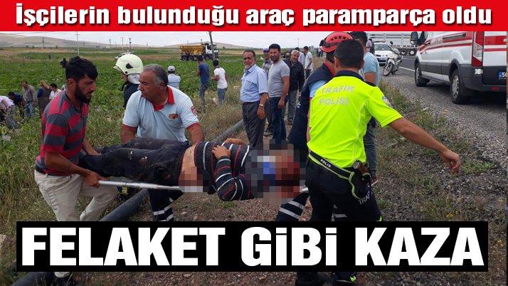 Son dakika… Nevşehir'de minibüs ile TIR çarpıştı: 6 ölü, 9 yaralı