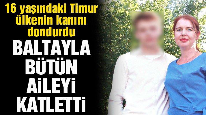 Rusya'da kan donduran çocuk... Baltayla tüm ailesini yok etti!