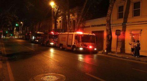 Galatasaray Üniversitesi'nde korkutan yangın