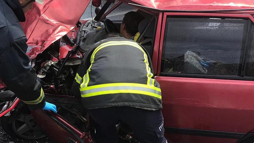 Antalya'da korkunç kaza! Araç bu hale geldi