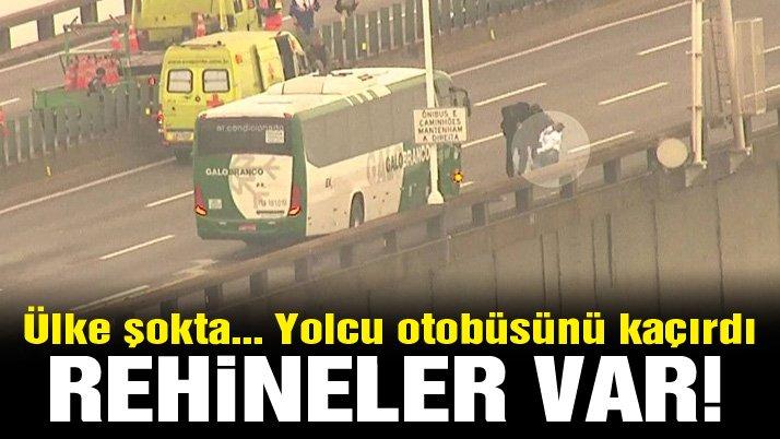 Son dakika… Brezilya'da otobüs kaçırıldı: Rehineler var