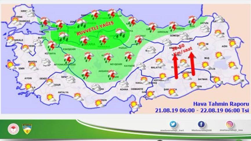 Meteorolojiden kuvvetli yağış uyarısı! İşte yurttan hava durumu tahminleri…