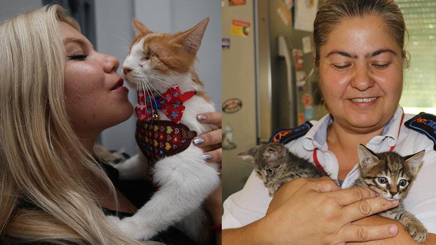 İki iyi kadın: Engelli kedileri sahipsiz bırakmadılar