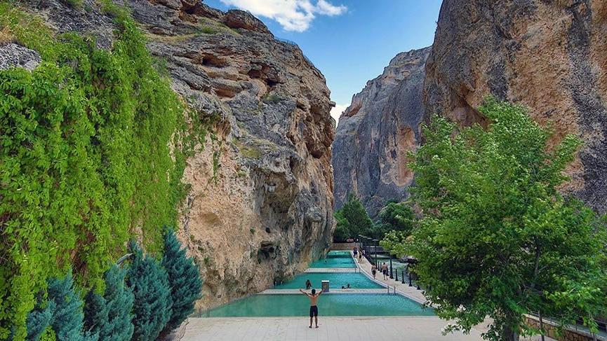 Malatya'nın Tohma Vadisi içindeki Kudret Havuzu