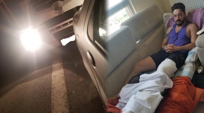 Otoyolda aracından indirdiler, dövdüler, bıçakladılar!