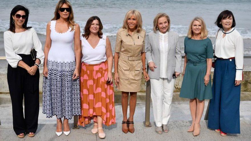 G7 Zirvesi'ne First Lady'lerin rüküşlüğü damga vurdu