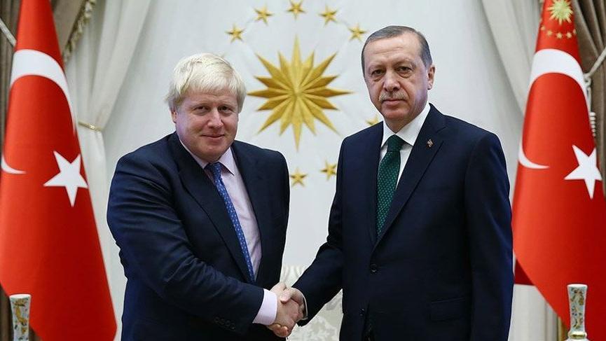 Erdoğan, Boris Johnson ile görüştü!