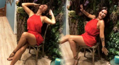 Selen Görgüzel Alkan'ın sandalye dansı beğenildi