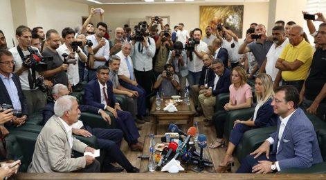 İmamoğlu, görevden alınan: Mızraklı ve Türk'le bir araya geldi