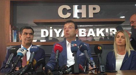 İmamoğlu Diyarbakır'da:Kayyum atamaları gaflet ve dalalettir