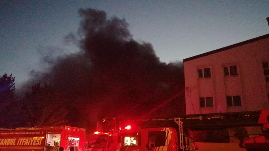 Kurtköy'de fabrika yangını!