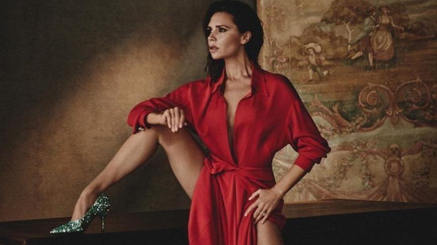 Victoria Beckham'ın 45 yaş esnekliği!