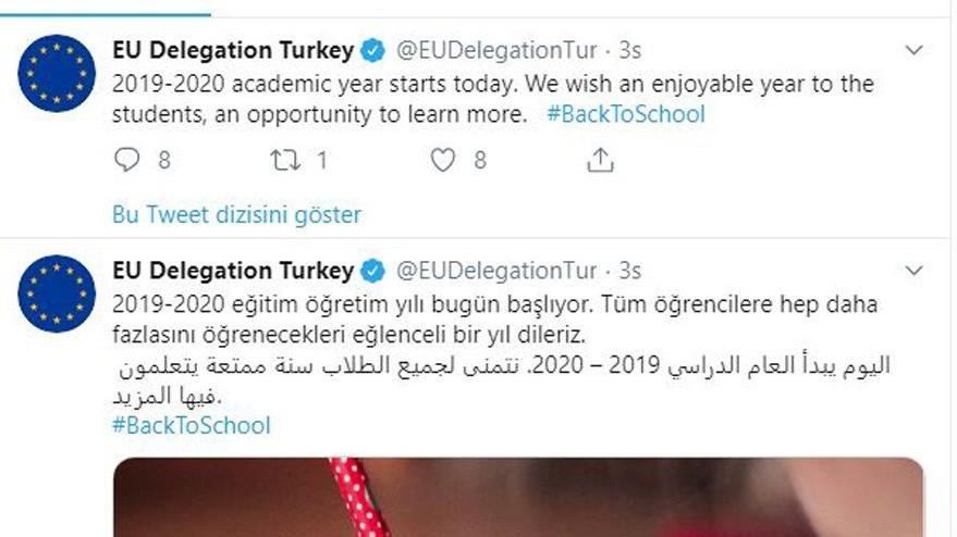 Avrupa Birliği'nden şaka gibi Türkiye paylaşımı: Türkçe, İngilizce ve Arapça