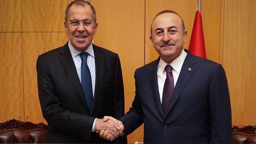 Çavuşoğlu ve Lavrov Suriye'yi görüştü!