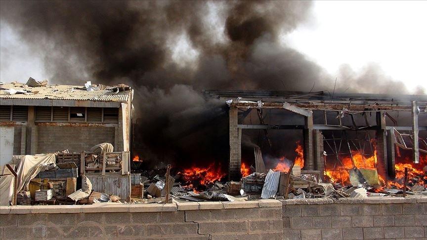 Husilere ait cephanelikte patlama: 7 ölü