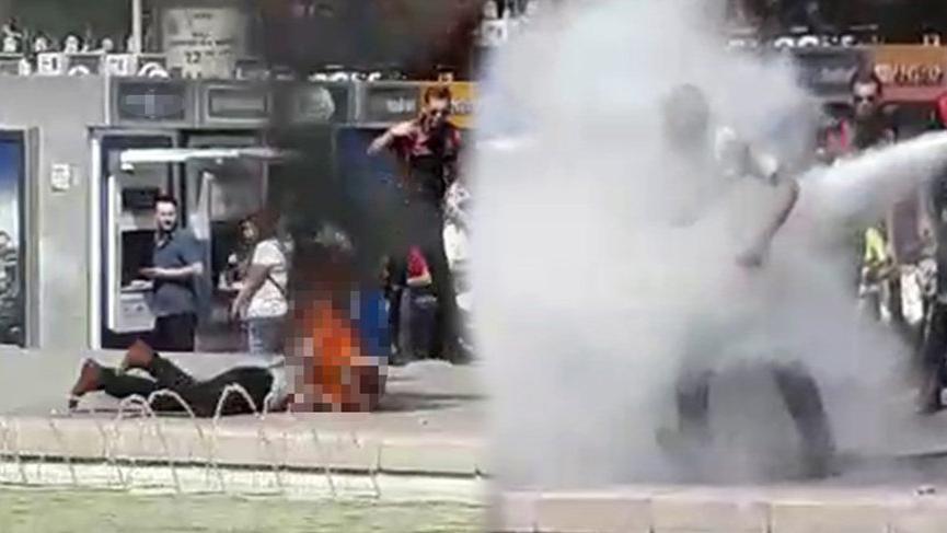 Ekonomik sorunları olan vatandaş Ankara'nın göbeğinde kendini yaktı