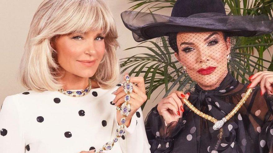 Kris Jenner ve Yolanda Hadid 80'lere döndü