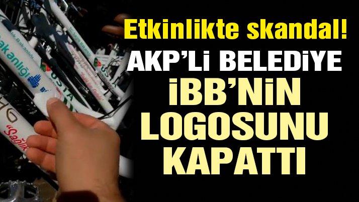 Bisiklet etkinliğinde skandal! AKP'li belediye İBB'nin logosunu kapattı