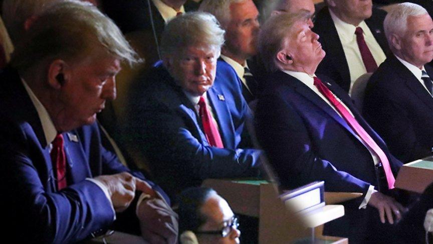 Trump bu görüntüyle herkesi şaşırttı!