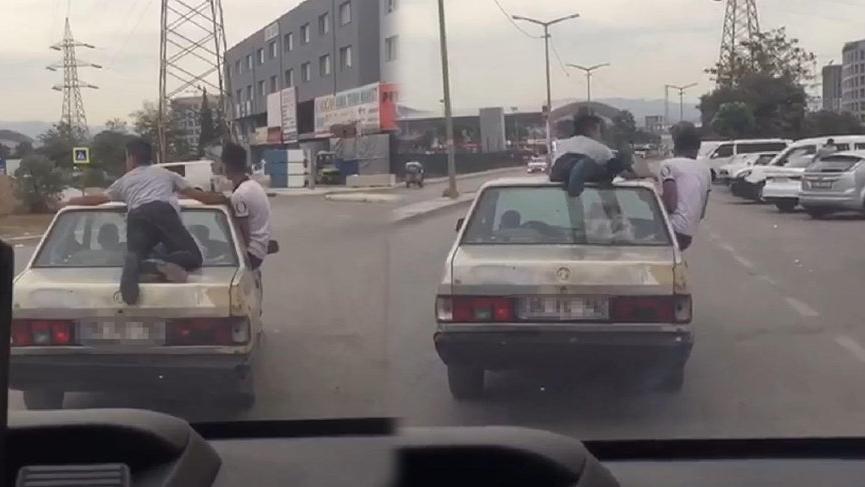 Trafikte tehlikeli yolculuk!