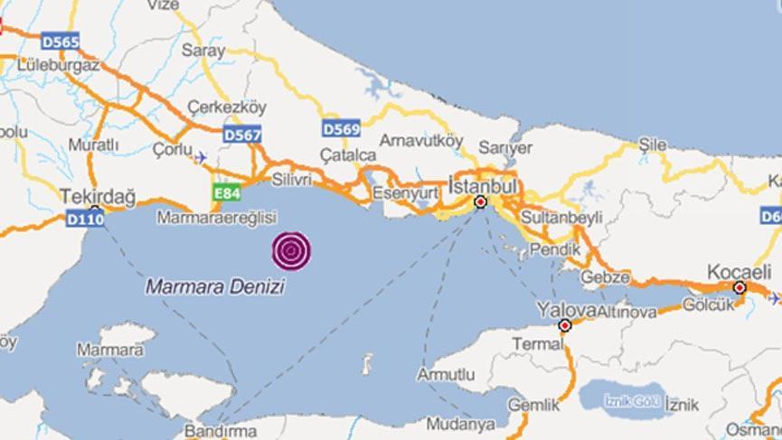 İstanbul'da yine deprem! AFAD: 3,9 Kandilli: 4,3 Avrupa: 4,3