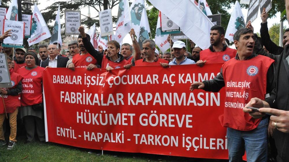 Zeytinoğlu işçileri eylemde