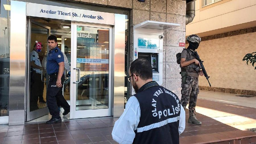 Avcılar'da banka soygunu