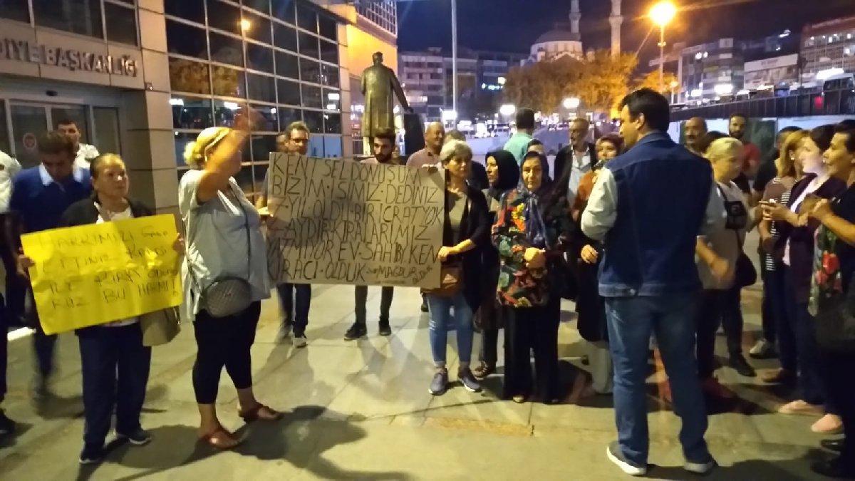 AKP'li belediye önünde her akşam kentsel dönüşüm eylemi olacak