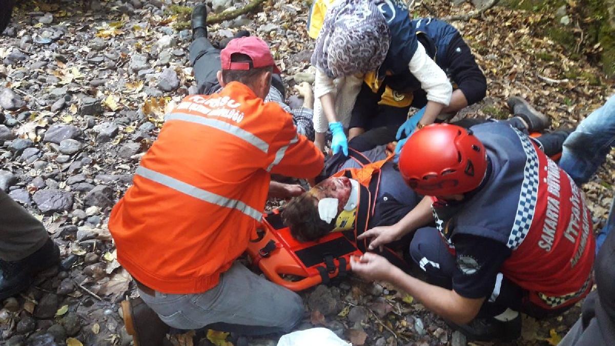 Uçuruma düşen baba öldü, oğlu ağır yaralı