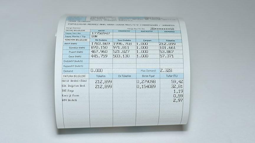 4 kişilik bir ailenin elektrik faturası 163 TL'ye çıktı